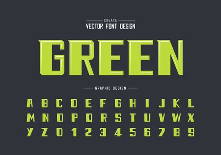 Highlights font and bold alphabet vector, Modern Typeface and letter number design, Graphic text on background