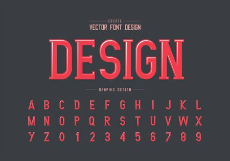 Highlights font and pink alphabet vector, Writing style typeface letter and number design, graphic text on background