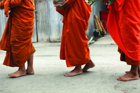 Monk in Cheing Khan in thailand photo