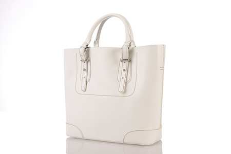 whitw: whitw woman bag isolated on the white background