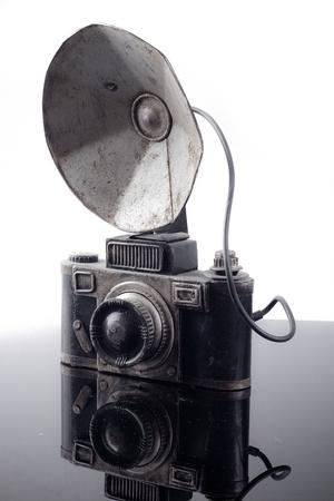 antique metal toy camera photo