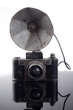 front view of retro camera photo