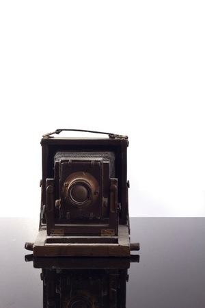 front view of antique camera photo