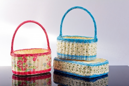 cepelia: decopage basket for decoration