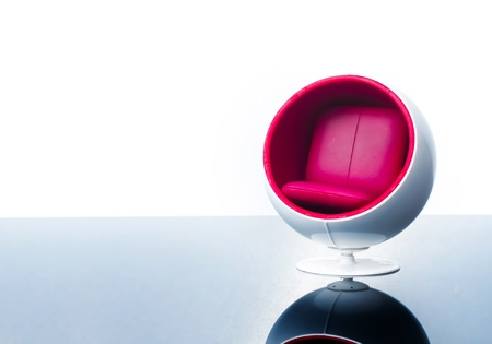 big ball chair with white background