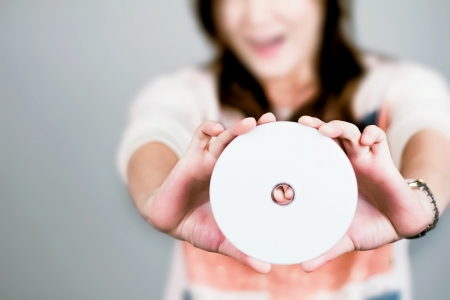 let s look at this cd  Stock Photo