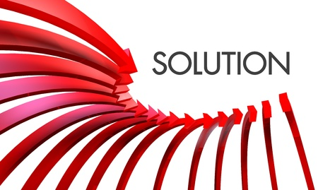 solution red arrow photo