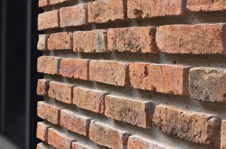 texture wall: Close up of brick wall SIDE VIEW