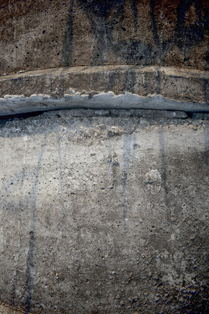 culvert: closed up concrete tube texture background