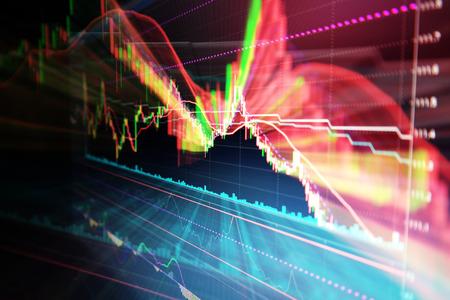 株式市場の投資取引のキャンドル スティック グラフ