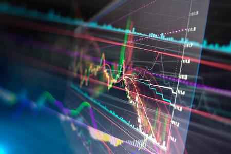 crisis economica: Vela carta del gráfico del palillo de la negociación la inversión en bolsa