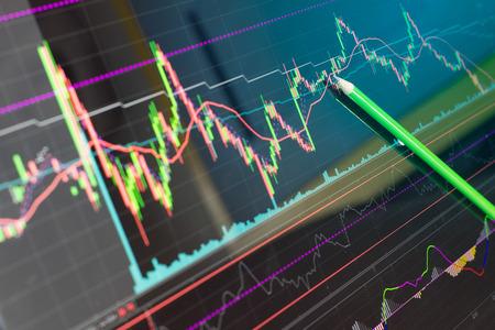comercio: Vela carta del gráfico del palillo de la negociación la inversión en bolsa