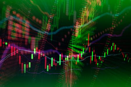 comercio: Vela diagrama gráfico del palo y el indicador de comercio de inversión en bolsa