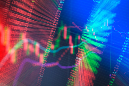 Stock Market Graph with blur image for background