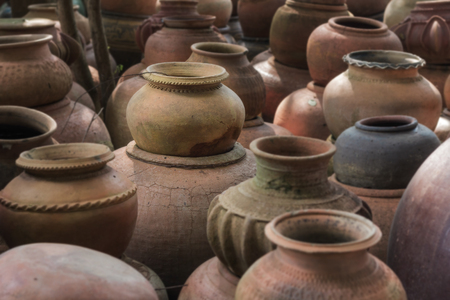 out door: pots clay collections show out door museum