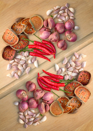 Wooden spoons full of aromatic herb on wood cutting board.jpg