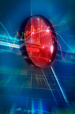 financial crisis stock chart in bullish concept
