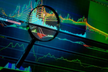 gelegenheid investering in de beurs met beurs grafiek Stockfoto