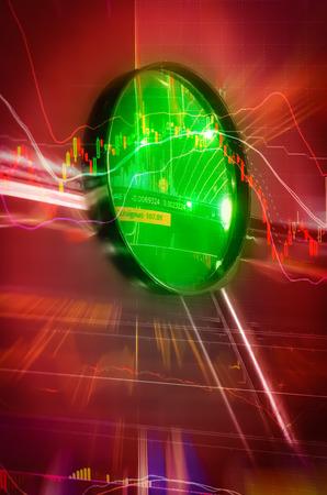 financial crisis stock chart in bearlish concept