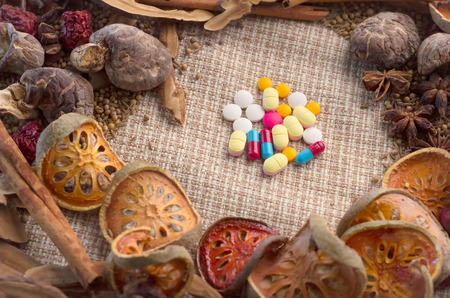 surround: herbs and pills concept pills surround with herbs and spices.jpg