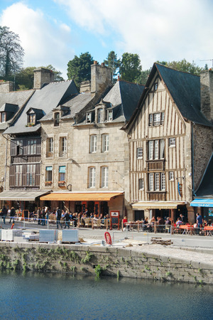 rance: Tradition house near Rive Ranch in Dinan France Editorial