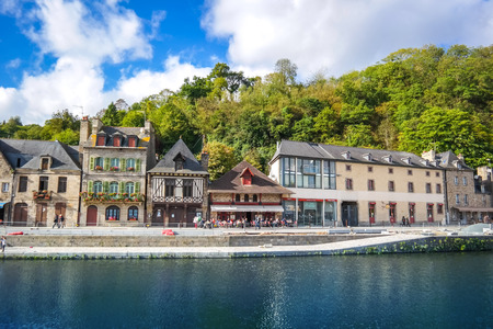rance: The Port of Dinan, River Rance, Brittany, France Editorial
