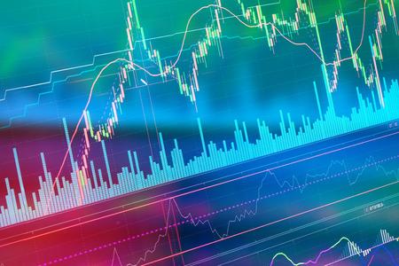 stock chart: Stock market chart business concept