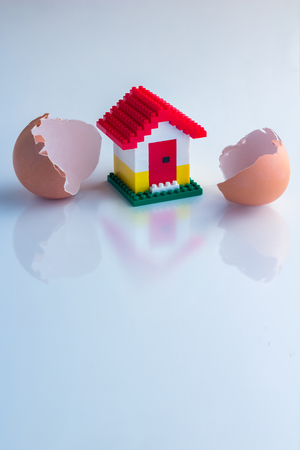 coming home: new home is coming Home model break put from egg shell