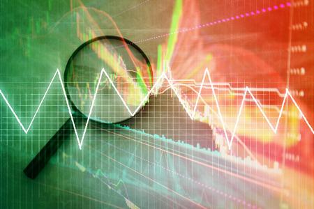 Bougie de diagramme bâton de la négociation de l'investissement boursier