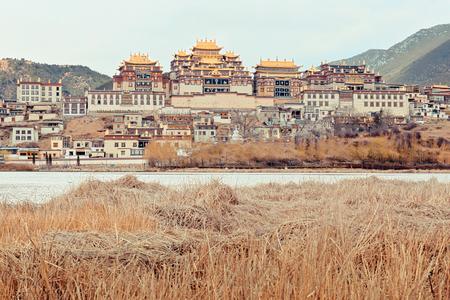 shangrila: Tibetan monastery. Shangri-la  in Zhongdian city  China.