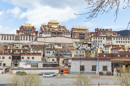 Songzanlin Temple also known as the Ganden Sumtseling Monastery, is a Tibetan Buddhist monastery in Zhongdian city( Shangri-La), Yunnan province China and is closely Potala Palace in Lhasa Editorial