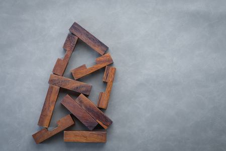 jigsaw tangram: Close up  a missing piece in a square tangram puzzle, business success concept.