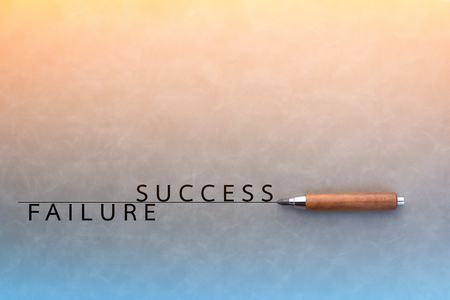 failed strategy: Failure and Success - Business Concept with drawing on grey background