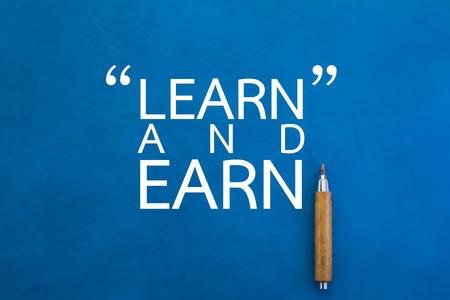 how to make money on blue background business concept Reklamní fotografie