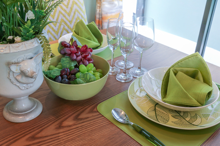 prop: beautiful decoration prop on dining table in day light atmosphere