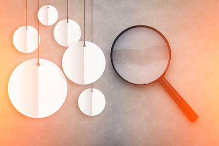 comercial: magnify glass with round white banner with copy space comercial concept.jpg