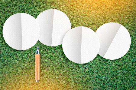 sharp pencil: sharp pencil on green grass  texture background with copy-space