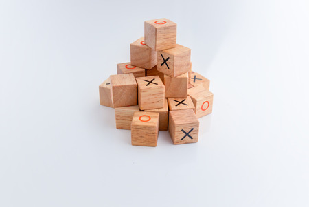 tic tac toe: Game of Tic Tac Toe, close-up on white background