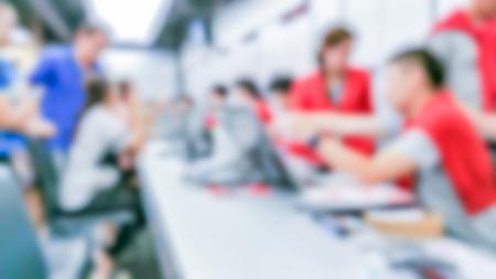 visitador medico: Abstract blur hospital cashier background background concept