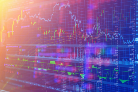 financial market: financial stock market concept and background