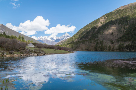 reservoirs: Mountain scenery, lakes and reservoirs landscape background