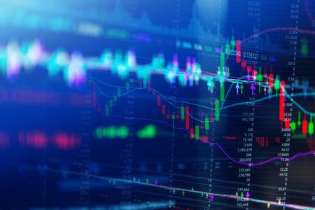 bearish: Stock market chart business concept