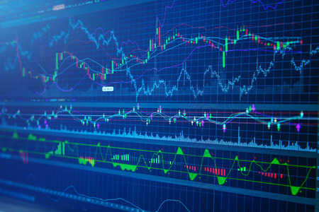 bullish market: business success and growth concept stock finance  market display screen