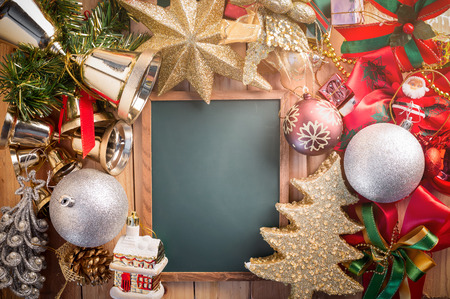 reflective: christmas background with golden and glitter shiny decoration
