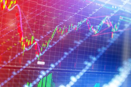 bullish market: Stock market chart business concept