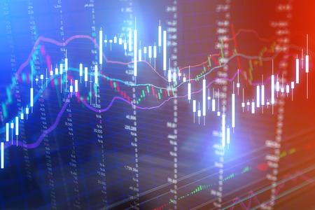 bullish market: Candle stick graph chart of stock market investment trading