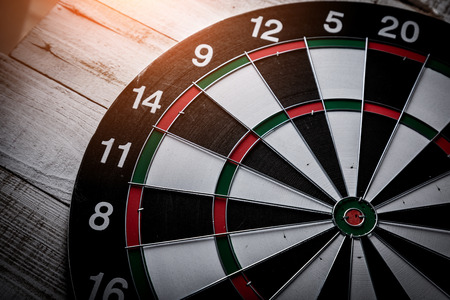 wide angle: Dartboard wide angle dramatic light  with no arrow business success concept
