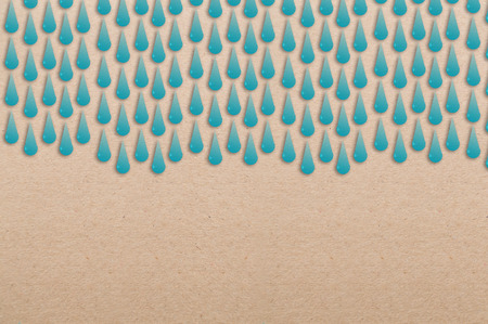 rain drop: rain drop with paper shape on brown blank page paper with freecopy space for your text