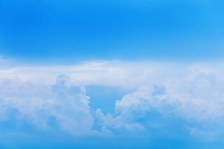 Beautiful white cloud in blue sky for blackground Stock Photo