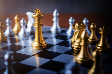 chess board game concept of business ideas and competition and stratagy plan success meaning Zdjęcie Seryjne